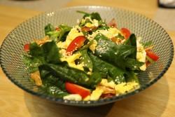 法蓮草とベーコンのサラダ