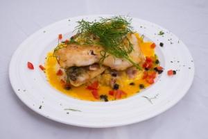 橙味茴香鲈鱼