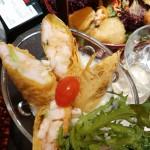 芝士汁鲜虾腐皮卷
