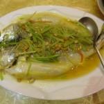豆瓣酱煮金龙鱼
